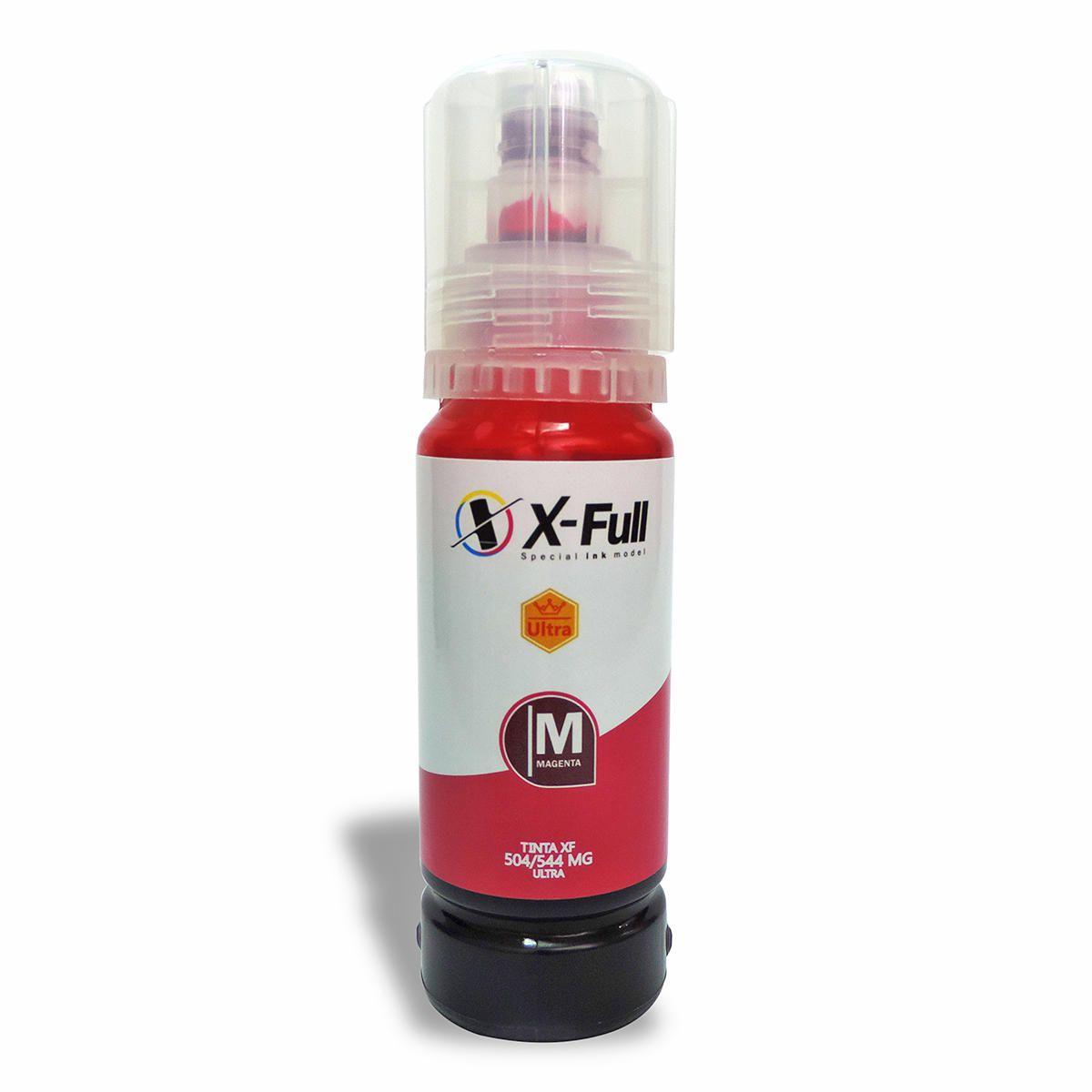 Compatível: Tinta Corante X-Full Ultra para Epson L3111 L3158 L4150 L4160 L6170 L6190 ET3750 M970 / Magenta / 70ml