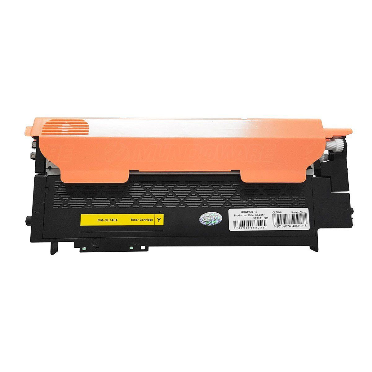 Compatível: Toner CLT-404 Y404S para Impressora Samsung SL-C430 C430w C480 C480w C480fn C480fw / Amarelo / 1.000