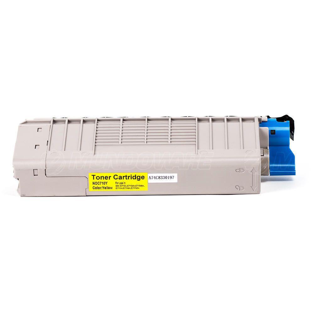Compatível: Toner C710/711 para Impressora Okidata C710 C710n C710dn C710dtn C711 C711n C711dtn / Amarelo / 11.500
