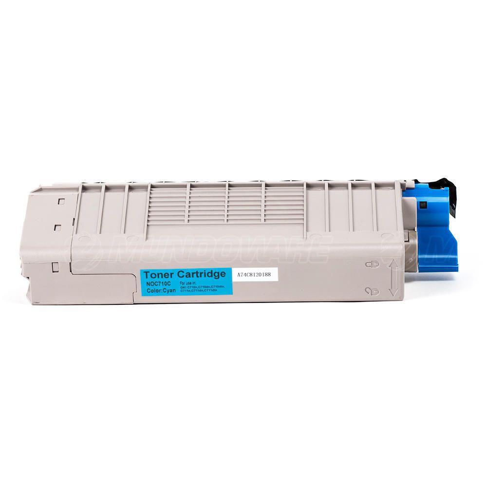 Compatível: Toner C710/711 para Impressora Okidata C710 C710n C710dn C710dtn C711 C711n C711dtn / Ciano / 11.500