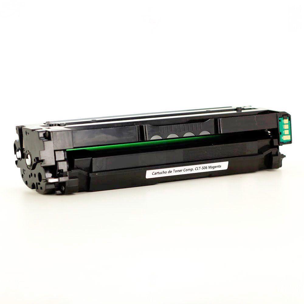 Compatível: Toner CLT-M506L CLT506 para Samsung CLP680 CLX6260 CLP680nd CLX6260nr CLP-680 CLX-6260 / Magenta / 3.500