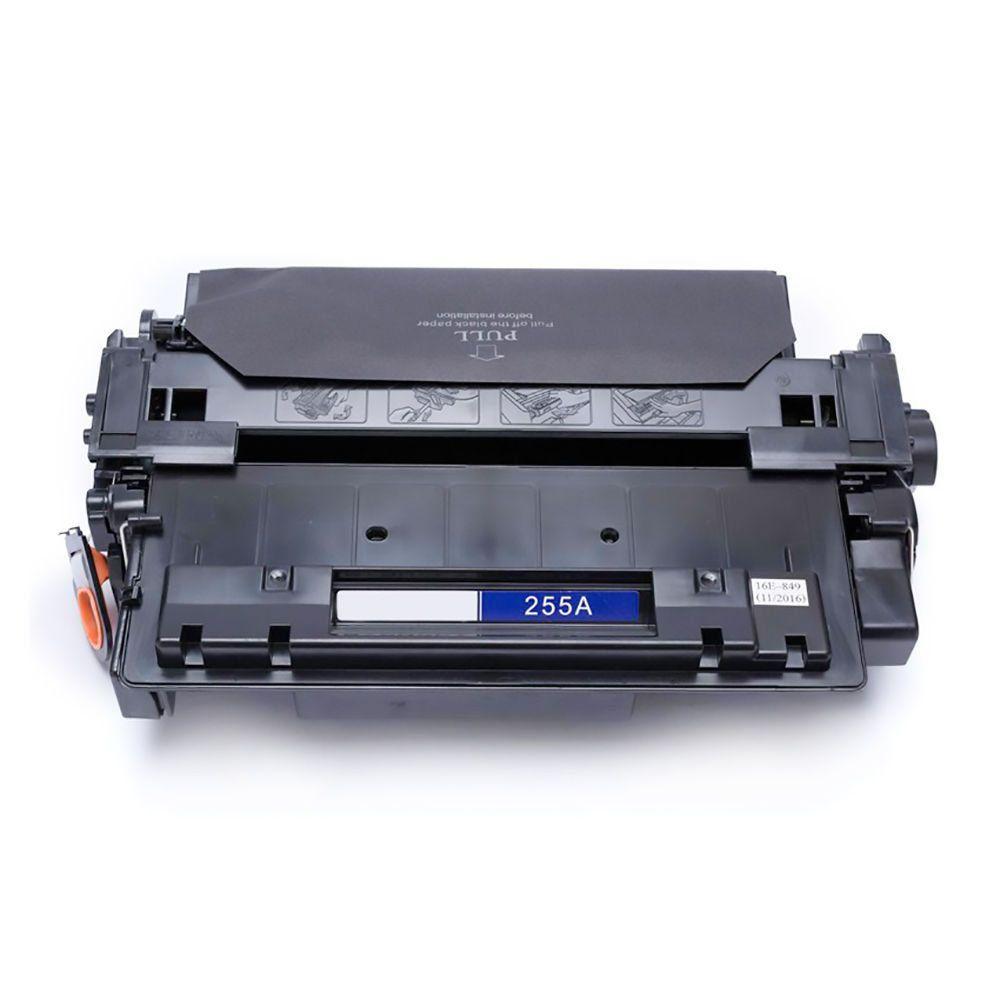 Compatível: Toner CE255A 255A para HP M521dn M525dn M525f P3010 P3015 P3015n P3015dn P3015x 3010 3015 / Preto / 6.000