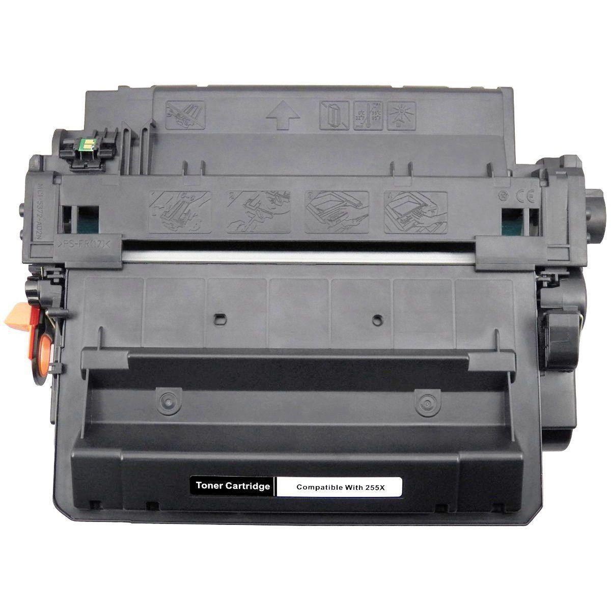 Compatível: Toner CE255X 55X para HP P3015 P3015n P3015d P3015dn M525dn M525f M525mfp M525 M521dn / Preto / 12.500