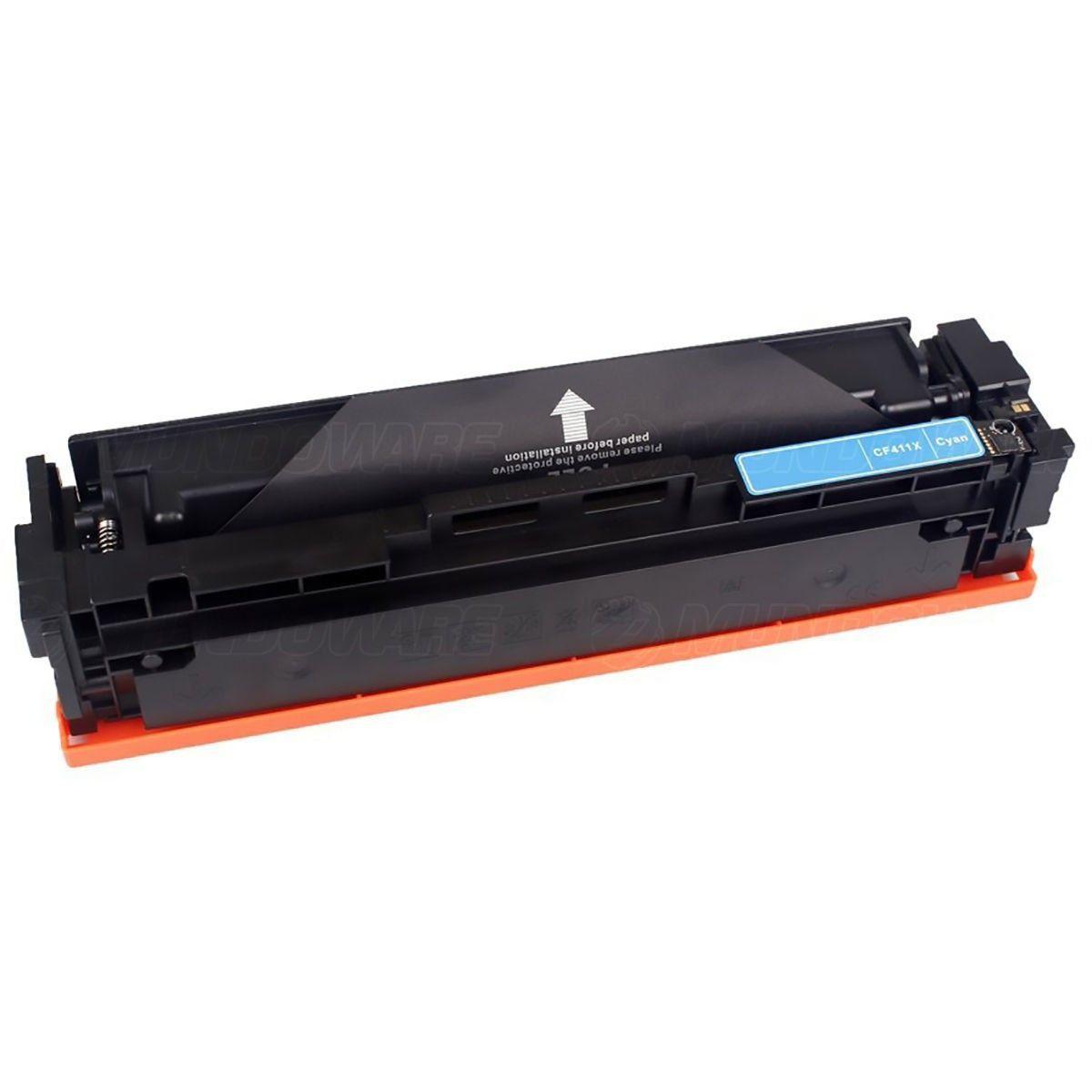 Compatível: Toner CF411X 411X para Impressora HP M477 M452 M477fdw M452dn M477fdn M452dw / Ciano / 5.000
