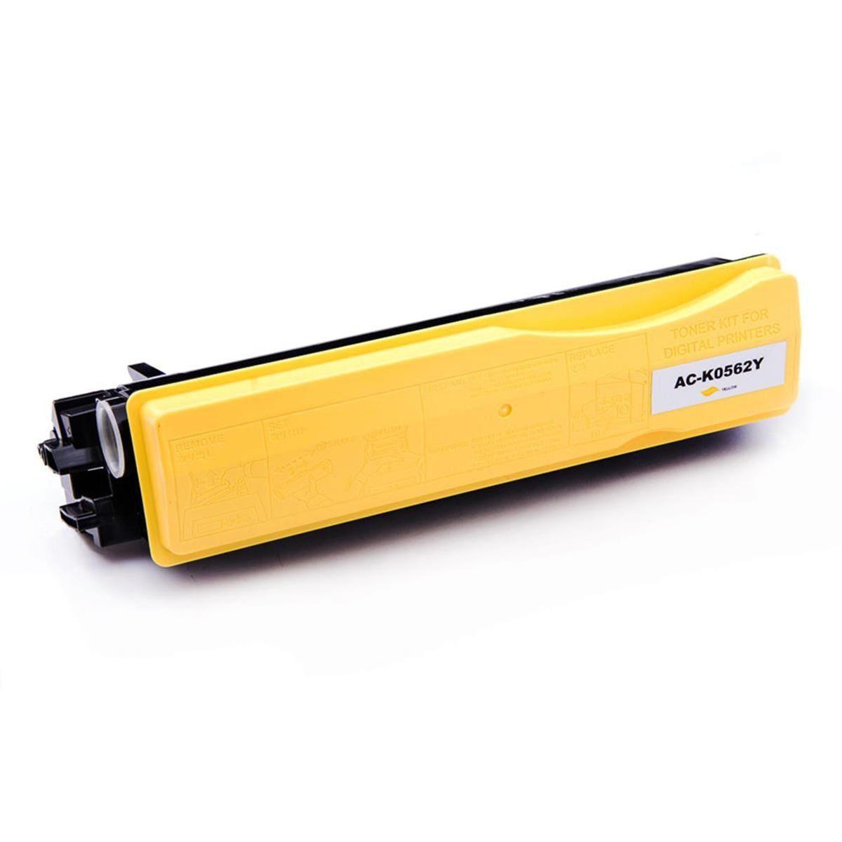 Compatível: Toner TK-562Y TK562 para Kyocera FS-C5300 FS-C5350 FS-C5300dn FS-C5350dn FSC5300 FSC5350 / Amarelo / 10.000