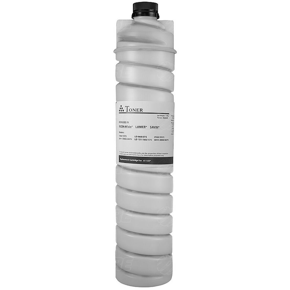 Compatível: Toner 1170D para Ricoh Aficio 1515 1515f 1515mf MP161 161f 161spf MP171 171f MP201 / Preto / 7.000