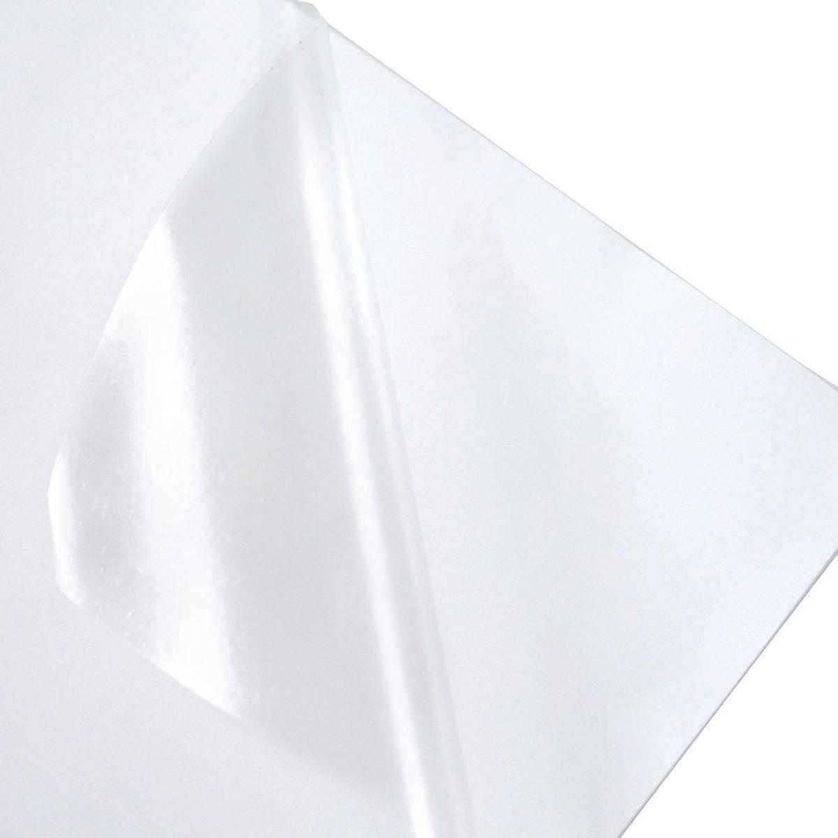 Vinil Transparente Adesivo Brilhante 150g A4 210mmx297mm PVC Autoadesivo / 100 folhas
