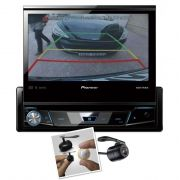 Dvd Player Retrátil Automotivo Pioneer Avh-7780tv + Camera de Ré Touch Screen Bluetooth Tv Digital