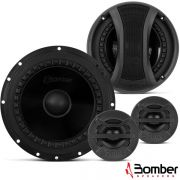 Kit Duas Vias Bomber Bbr 6 Pol 150 Rms Two Way Tweeter 2 Pç