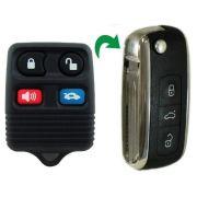 Chave Canivete Controle Alarme Ford Ecosport Ka Fiesta3 botões