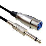 Cabo para Instrumentos XLR(F) X P10 5M CBMC0001 Preto STORM
