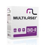 Midia Multilaser DVD-R VEL. 08X - DV042
