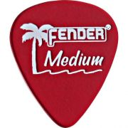 Palheta California Clear Media Vermelha Fender