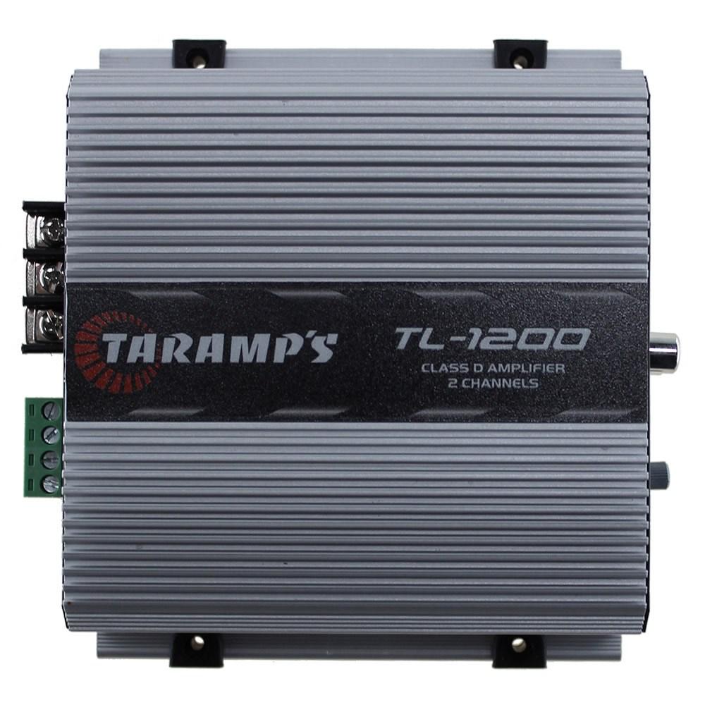 Módulo Amplificador Automotivo Digital Taramps TL-1200 - 2 Canais - 260 Watts RMS