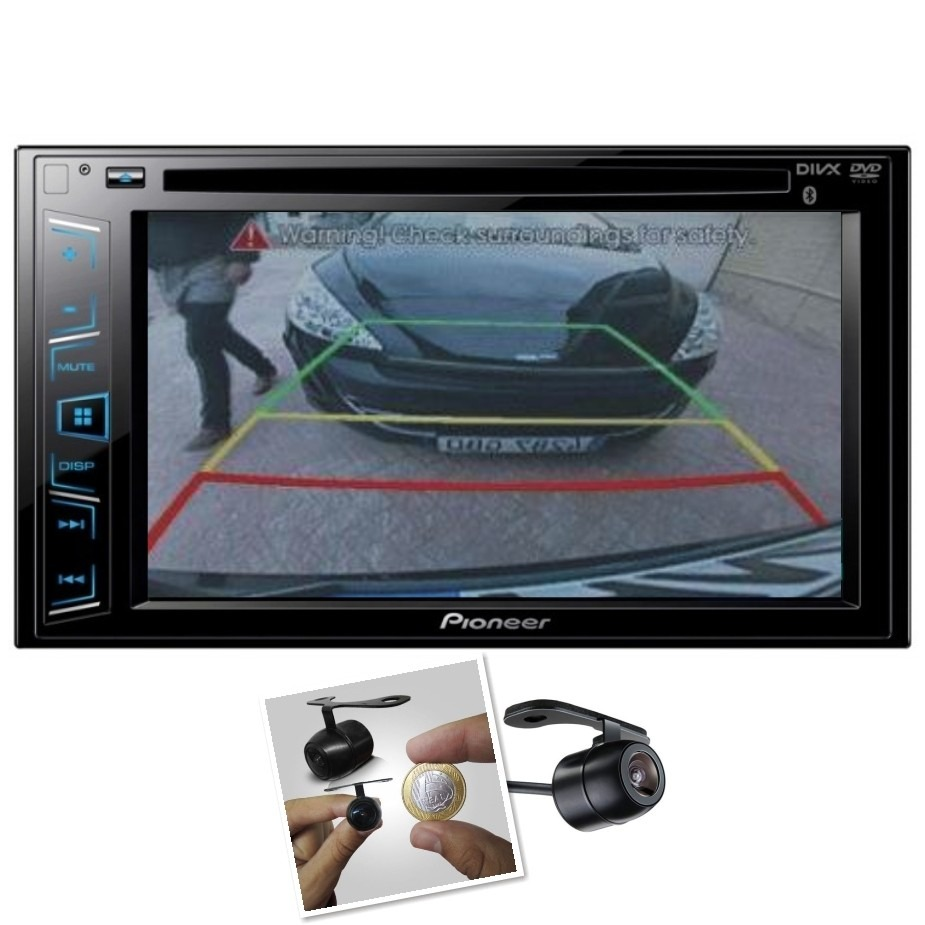 Dvd Player Automotivo Pioneer Avh-278bt + Camera de Ré Bluetooth Touch Screen 2din