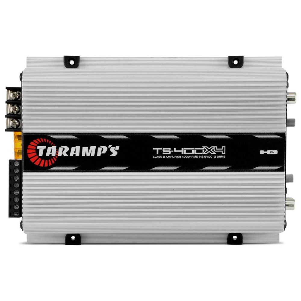 Módulo Amplificador Automotivo Taramps TS400 X4 400 Watts RMS 2 Ohms