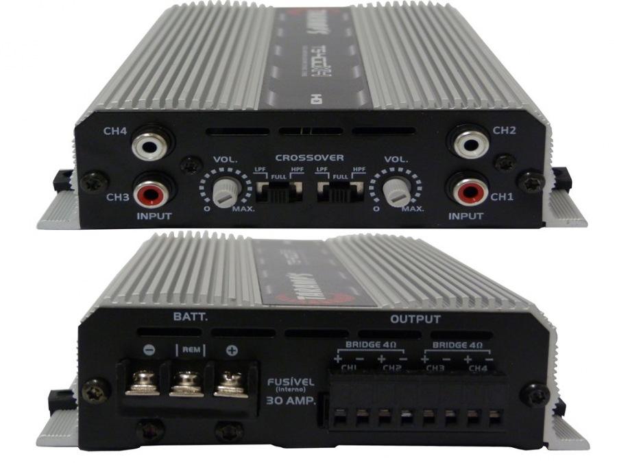 Módulo Amplificador Digital Taramps TS-400x4 EF Sem RCA - 4 Canais - 400 Watts RMS
