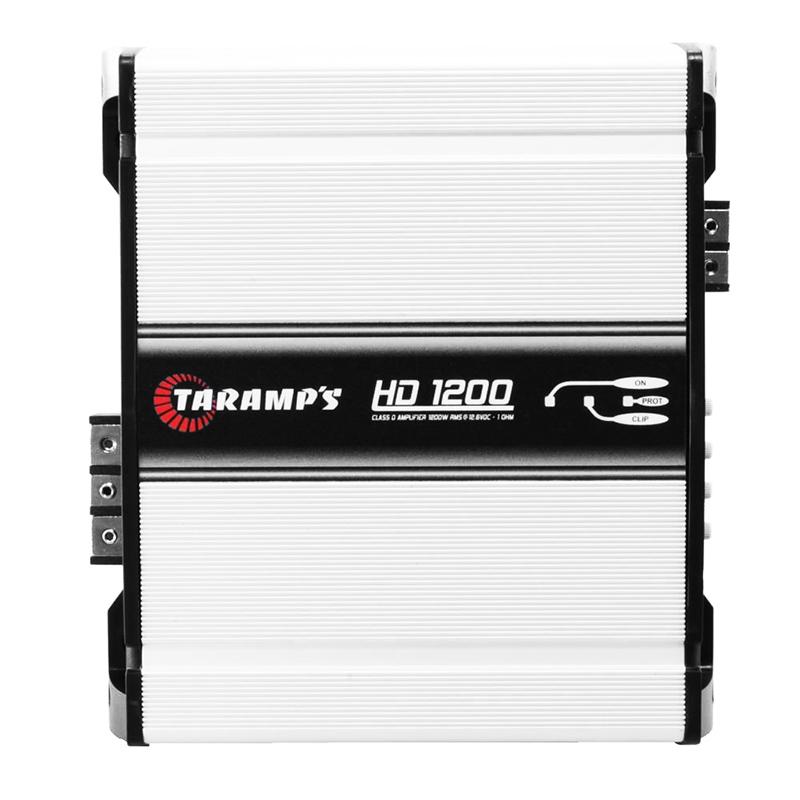 Módulo Amplificador Digital Taramps HD-1200 - 1 Canal - 1439 Watts RMS com Extensor LED Clip - 1 Ohm