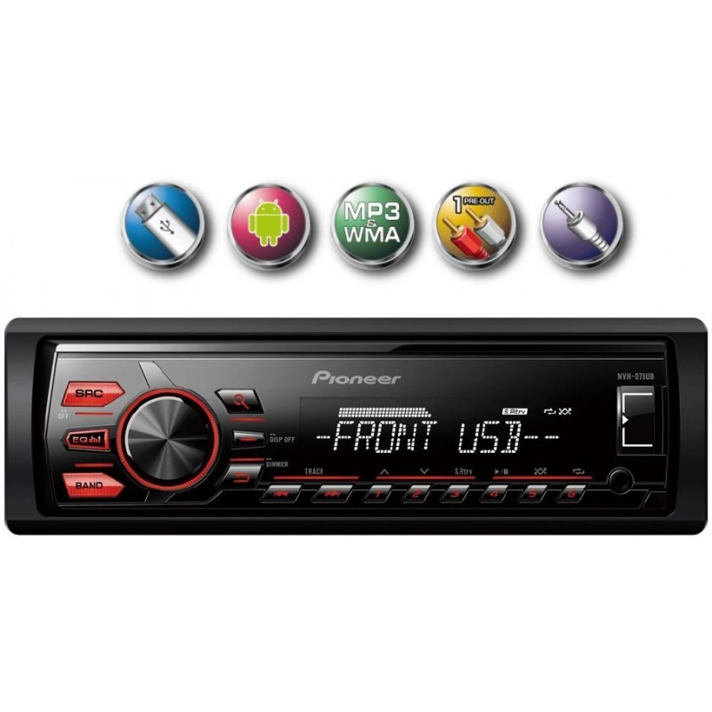 Media Player Automotivo Pionner Mvh-x078ub Usb Carro Mp3