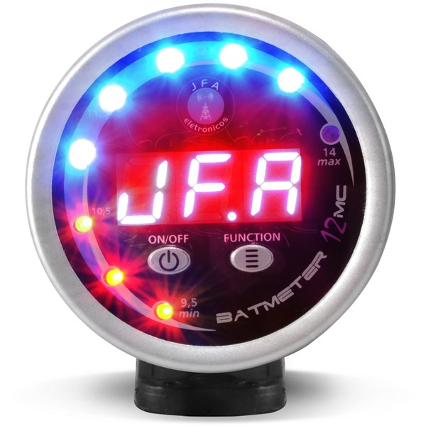 Voltímetro Automotivo Jfa Bat Meter 12V Digital Display Vermelho