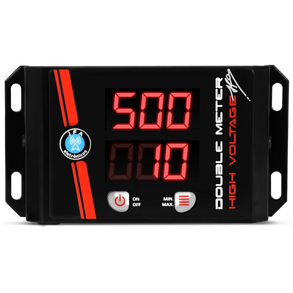 Voltímetro JFA Double Meter Low High Voltage Vermelho Medidor Bateria