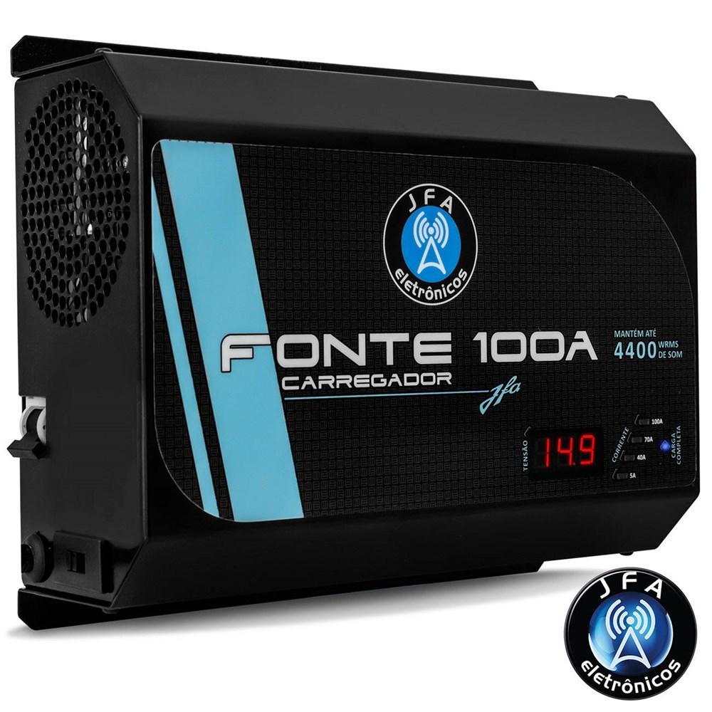 Fonte Automotiva JFA 100A 14.44V com Voltímetro