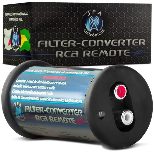 Conversor Rca JFA Adaptador de fio para Rca Anti Ruido e Saída Remota