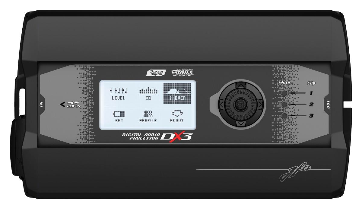 Processador de Áudio Digital JFA DX3 3 Saídas Estéreo