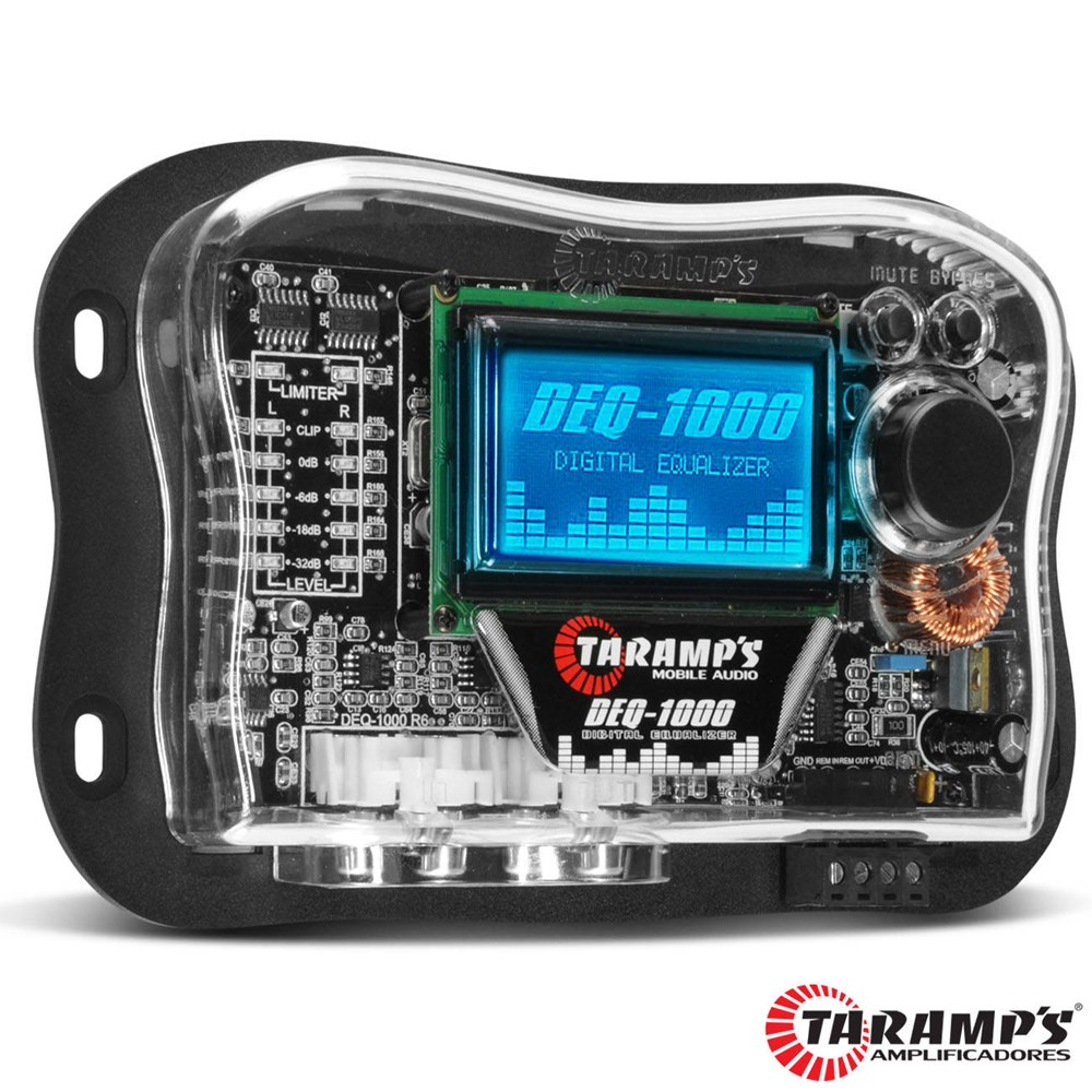 Equalizador Taramps Deq-1000 Gráfico Digital Lcd 15 Bandas Automotivo