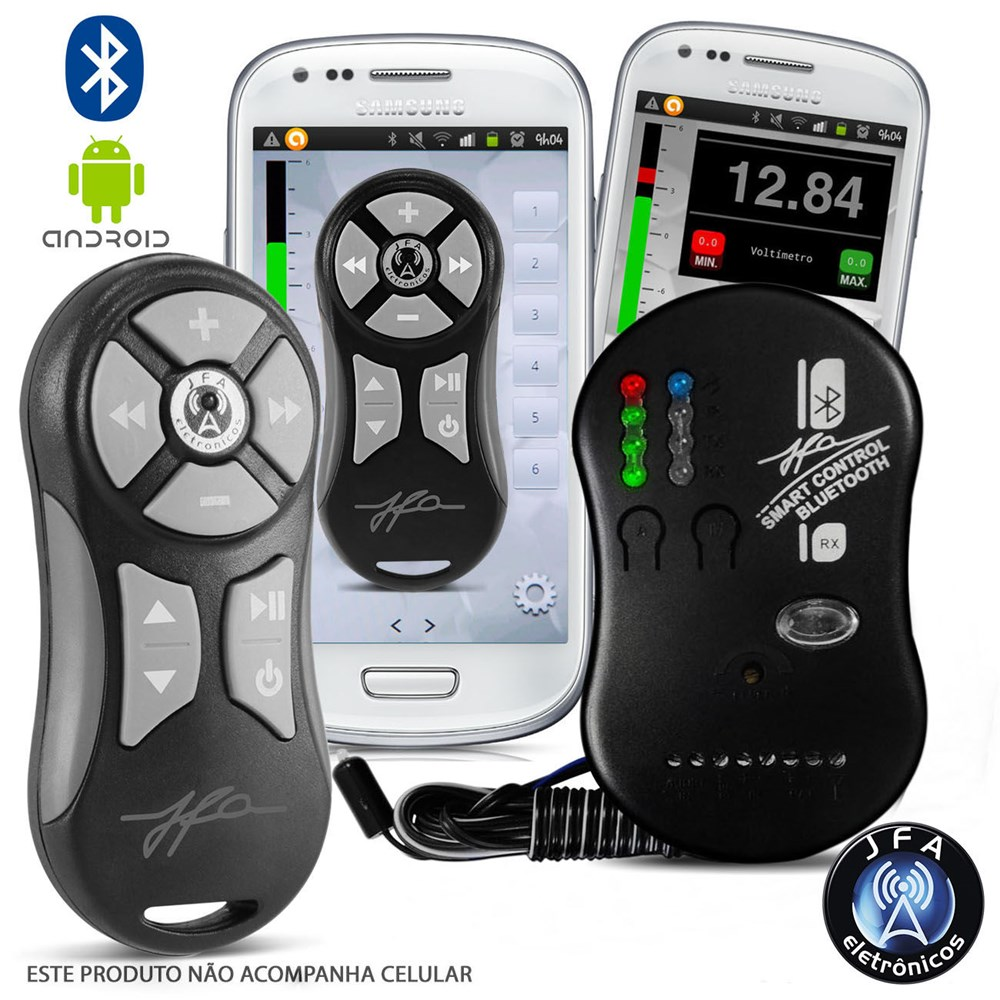 Controle Jfa Smart Control Via Smartphone Bluethooth Grafite