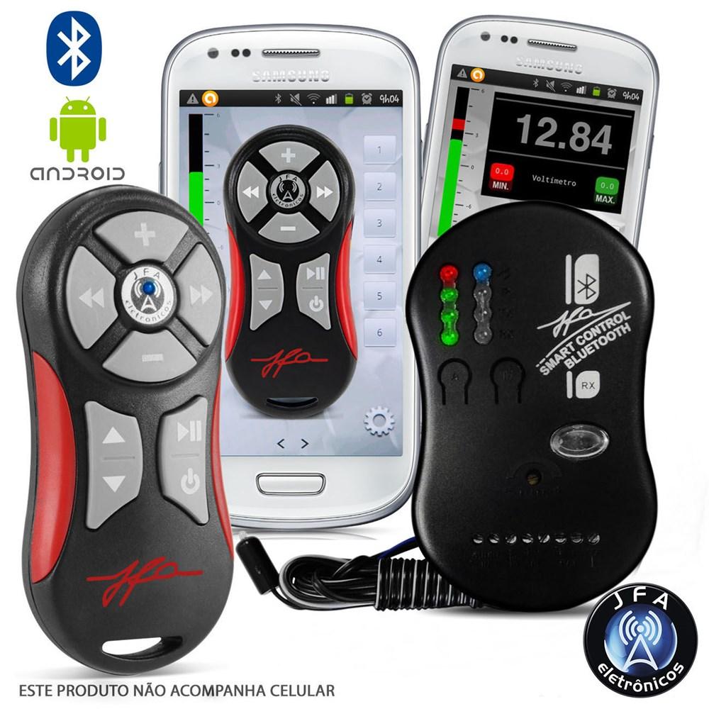 Controle Jfa Smart Control Longa Distância Via Bluethooth Celular Vermelho