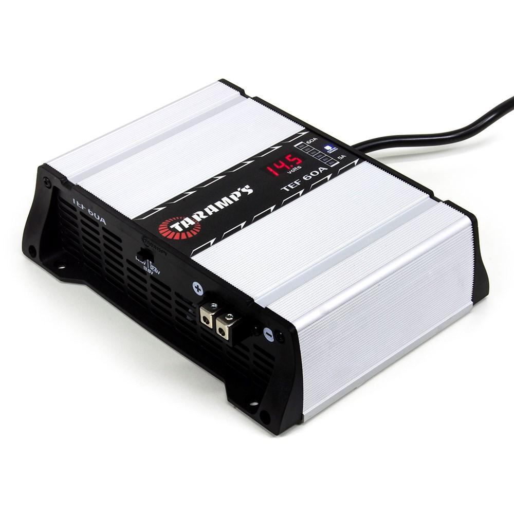 Fonte Carregador de Bateria Automotiva Digital Taramps TEF-60A 14.4 V - Bivolt