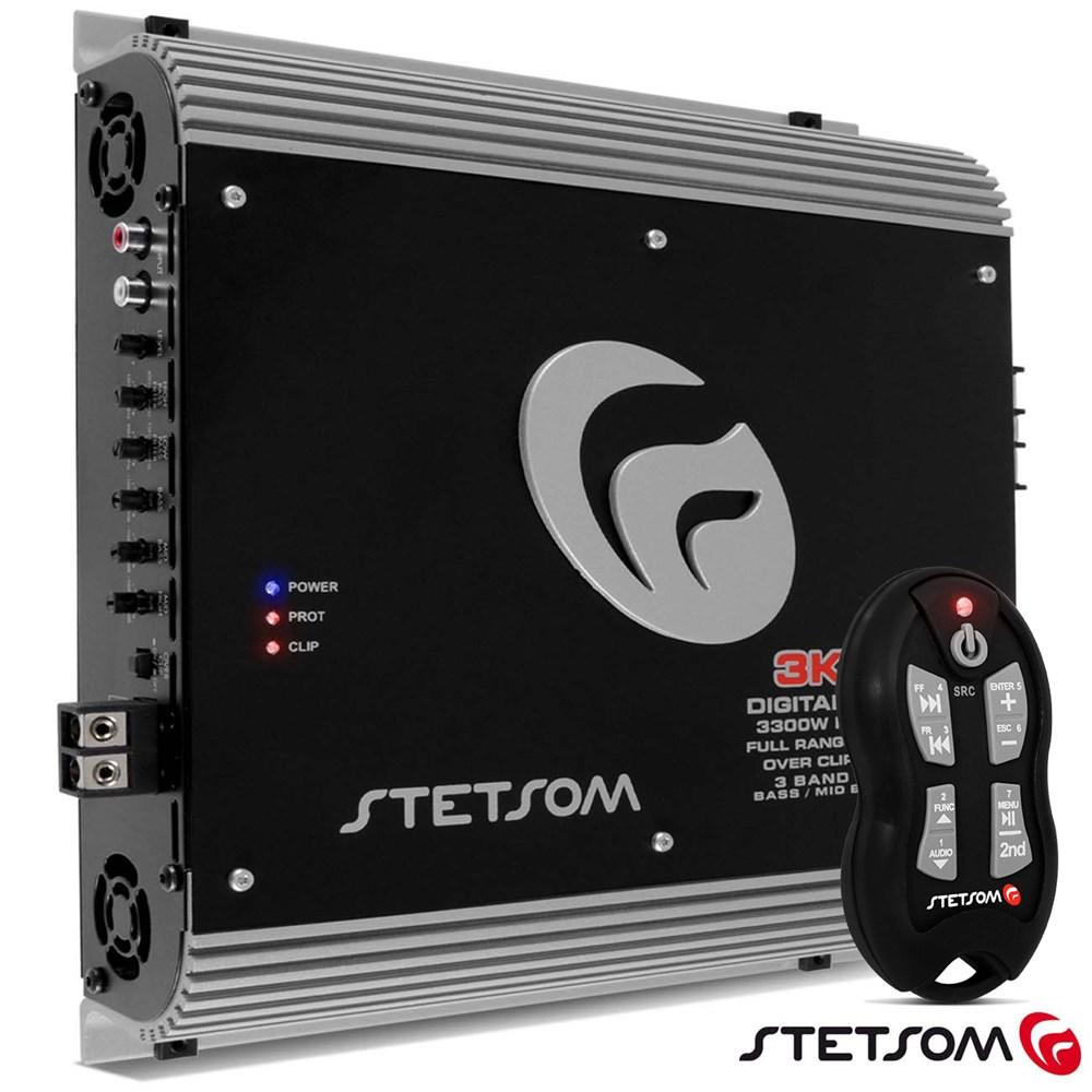Módulo Amplificador Stetsom 3k3 4000w Rms + Controle Sx2 Preto 2 ohms