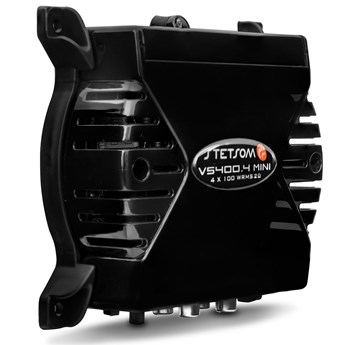 Módulo Amplificador Stetsom VS 400.4 Mini 400W RMS 4 Canais 2 Ohms Preto