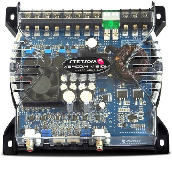 Módulo Amplificador Stetsom VS400.4 400W RMS + Controle Sx1 Grafite
