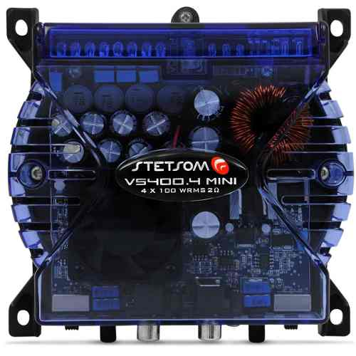 Modulo Stetsom Vs 400 4 + Controle Longa Distancia Azul Som