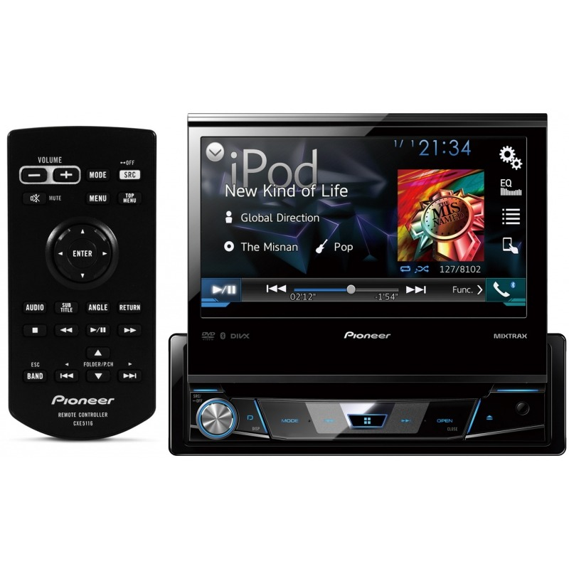 Dvd Player Retrátil Automotivo Pioneer Avh-7780tv Touch Screen Bluetooth Tv Digital