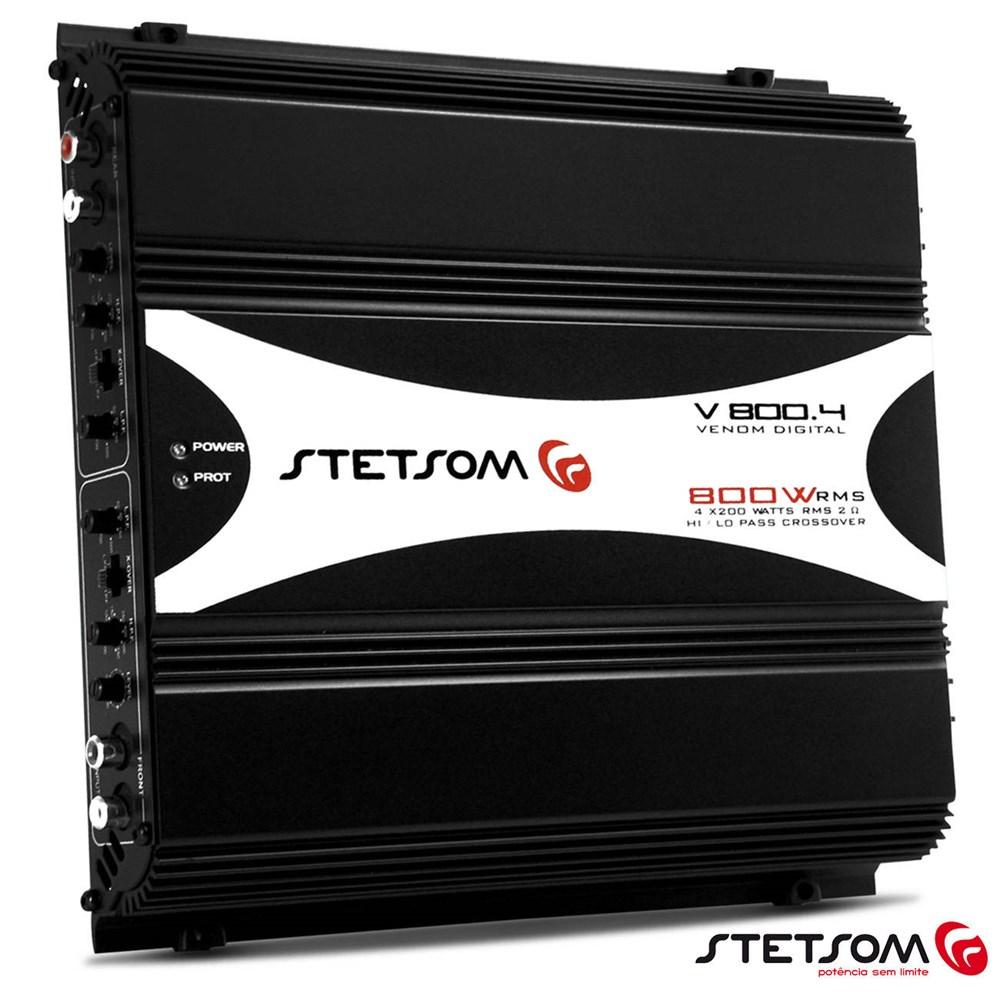 Módulo Amplificador Stetsom V800.4 800W Rms Digital Venom 4 Canais