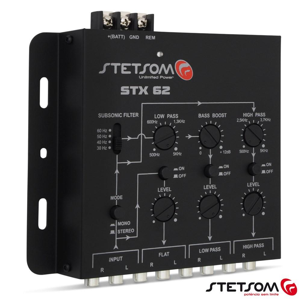 Crossover Stetsom STX62 2 Canais 3 Vias de Saída Mesa