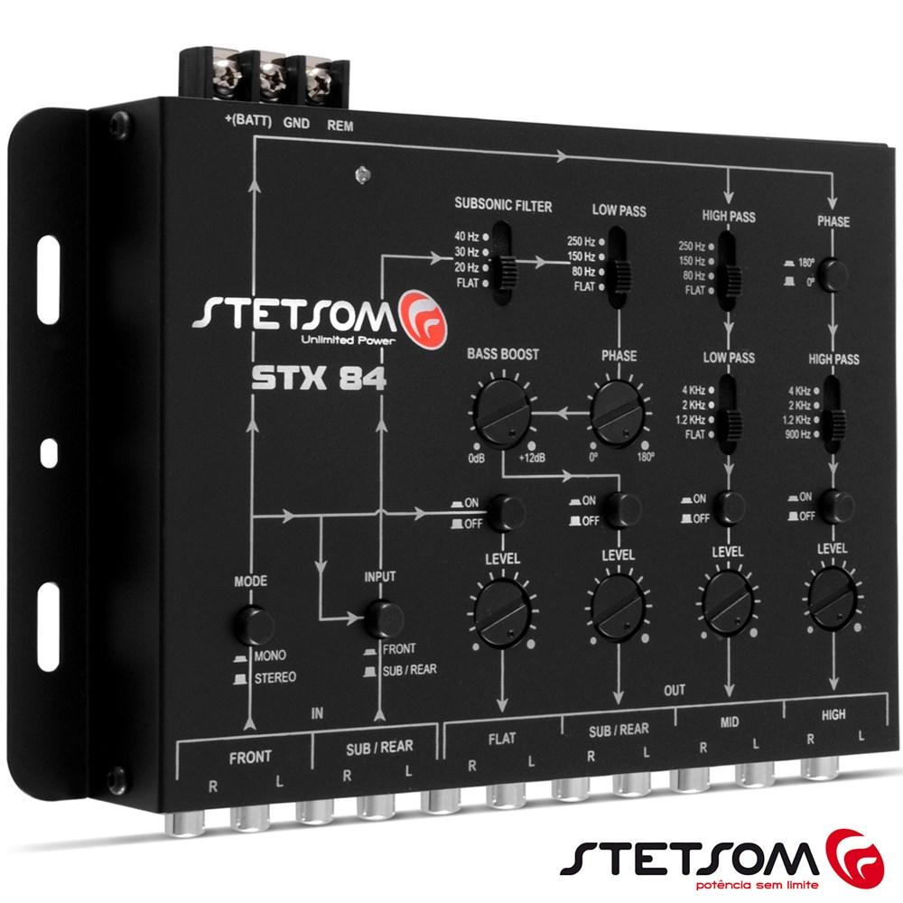Mesa Crossover Stetsom STX84 4 Canais Mono ou Stereo Automotivo