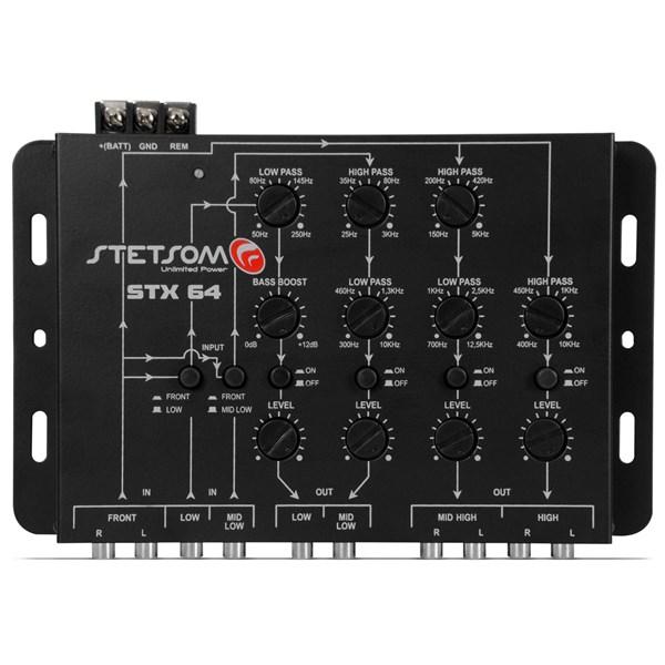 Mesa Crossover Stetsom STX64 4 Canais Mono ou Stereo Automotivo