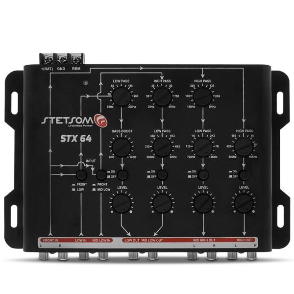 Mesa Crossover Stetsom STX64+Controle Longa Distância SX-2 500m Preto