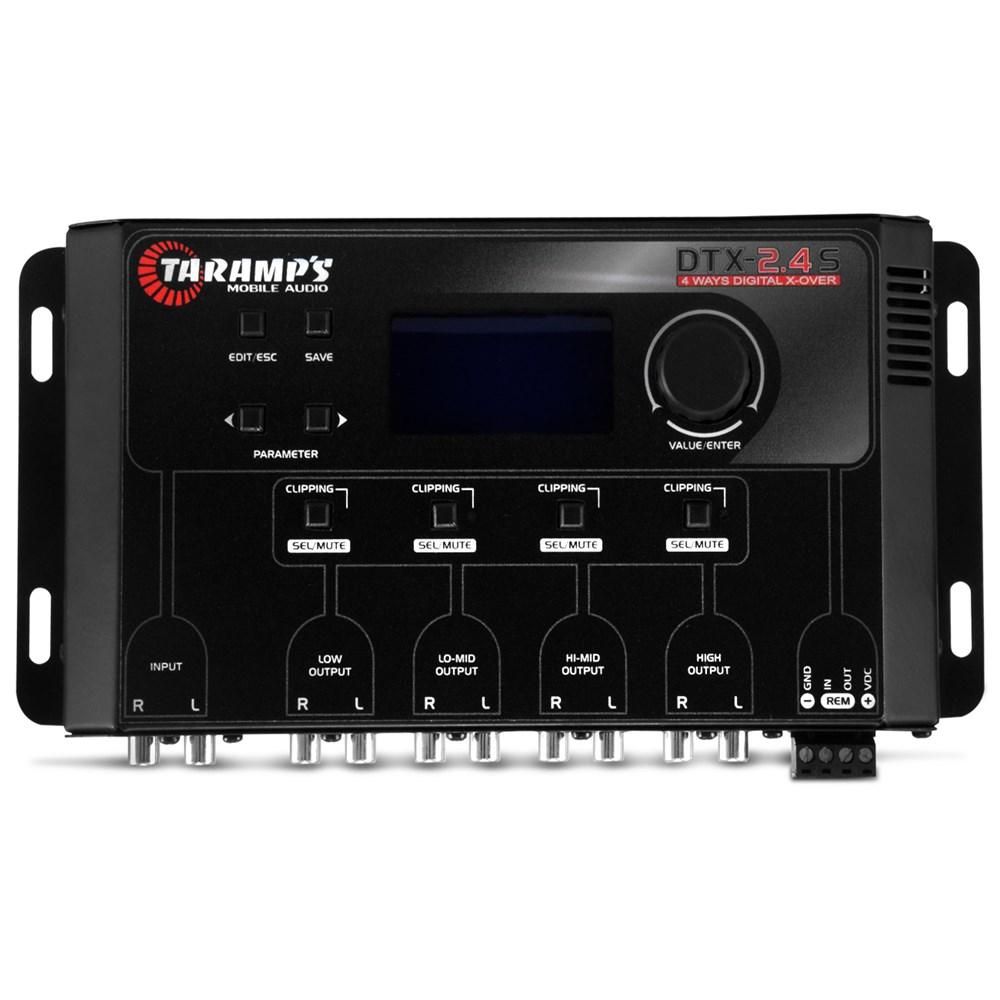 Crossover Automotivo Taramps DTX 2.4s Digital 4 Vias Tela Display Lcd