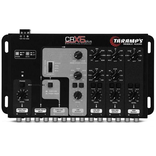 Crossover Taramps CRX5 com 5 Vias Som Automotivo