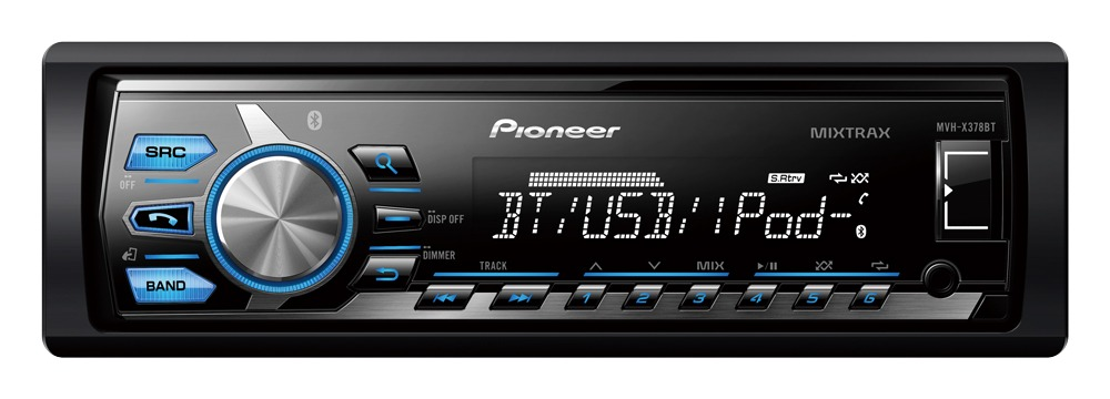 Media Player Automotivo Pionner Mvh-x378bt Bluetooth Usb