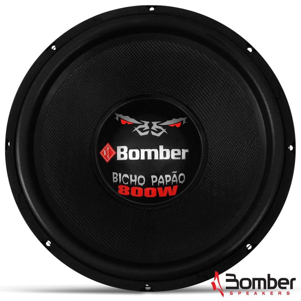 Subwoofer Bomber 15 Polegadas 800W RMS Bicho Papão Bobina Dupla 4 Ohms
