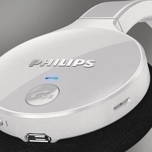 Fone de Ouvido Wireless Bluetooth 3.0 + EDR com Controle de Volume SHB4000WT/00 Branco PHILIPS