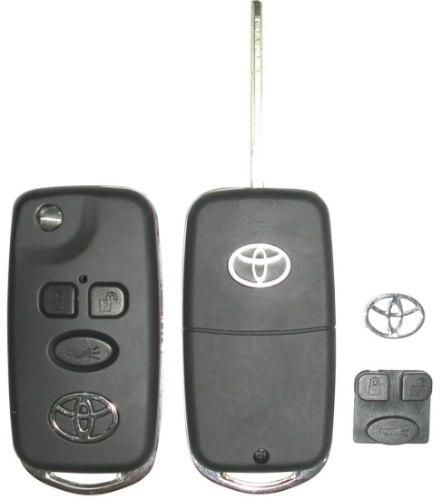 Chave Canivete Com Placa Para Toyota Corolla Fielder Seg Xei 2003 - 2008