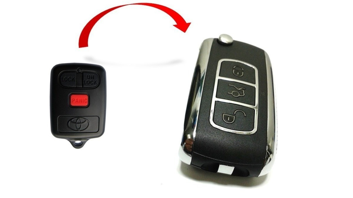 Chave Canivete Com Telecomando Toyota Corolla Fielder Seg Xei 03 a 08