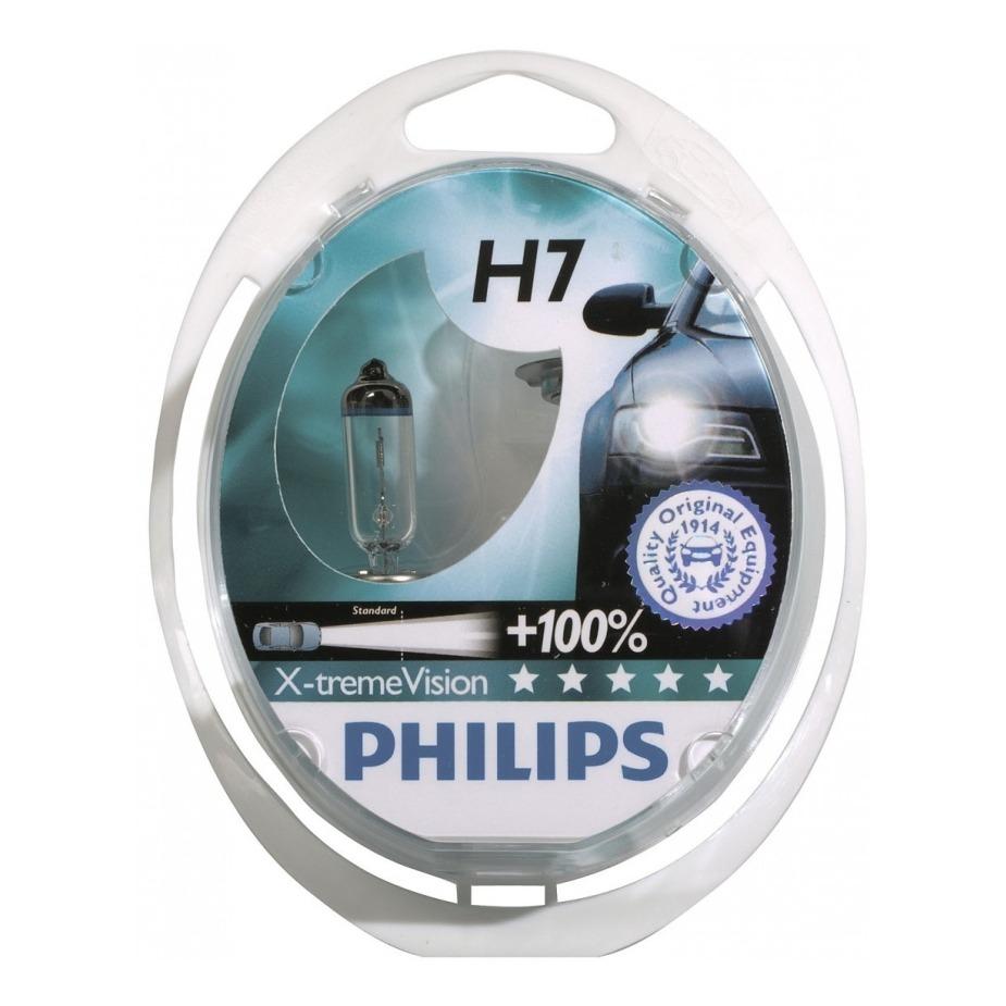 Kit Lampada Philips Xtreme Vision H7 55w 12v - Efeito Xenon